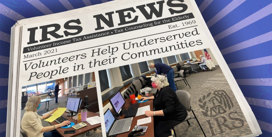 Volunteers Help Underserved People in their Communities Newspaper Article Image