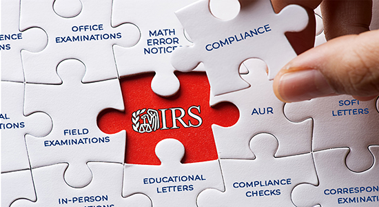 jigsaw puzzle depicting IRS compliance