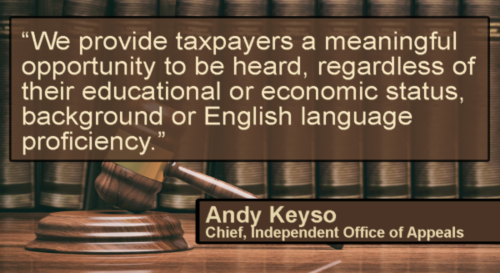 Andy Keyso Appeals Quote