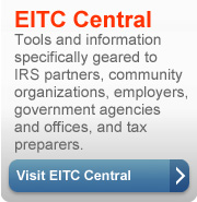 EITC tools and information for IRS partners, community groups, employers, government agencies and tax preparers.