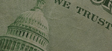 Close-up of money
