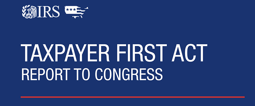 Taxpayer First Act 2020 report to Congress