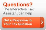 Questions? The Interactive Tax Assistant can help