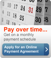 Pay over time. Get a monthly payment schedule. Apply for an online payment agreement (button).