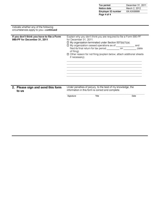 Image of page 4 of a printed IRS CP259B Notice