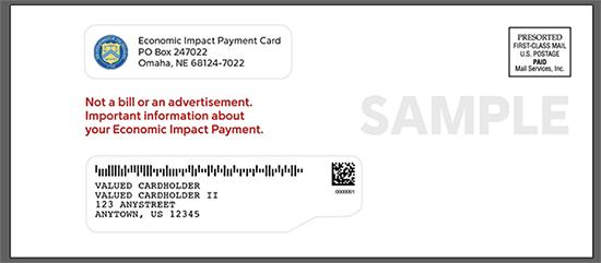 Sample EIP Card envelope