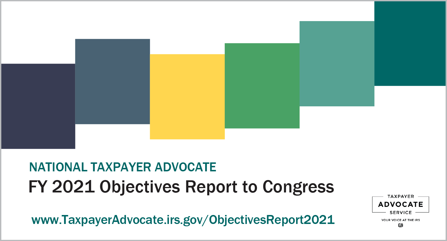Taxpayer Advocate Service FY 2021 Objectives Report To Congress